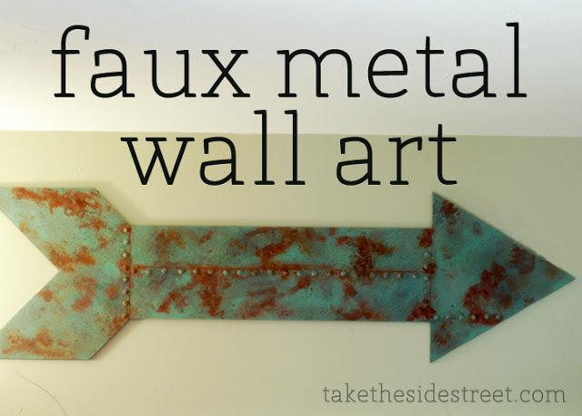 Faux Metal Arrow