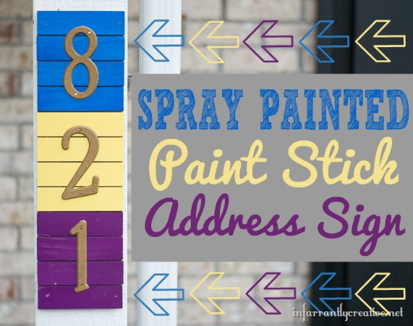 Paint Stick Address Sign