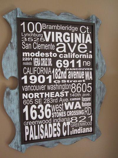 Subway Art Address Sign