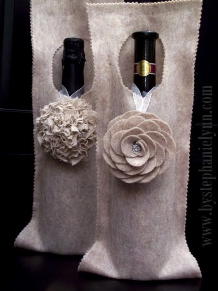 No Sew Felt Wine Wrap