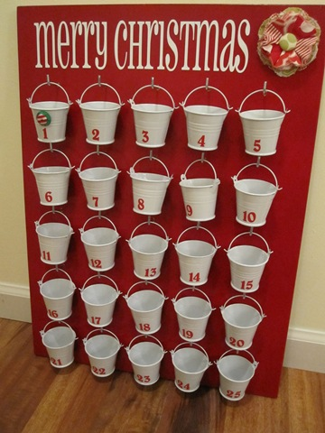 galvanized pail advent calendar