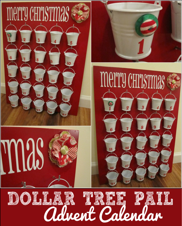 Dollar store advent calendar infarrantly creative for Diy christmas advent calendar ideas