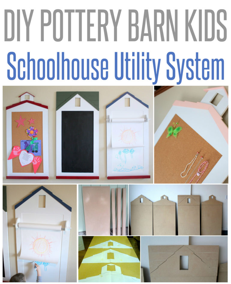 Primary Schoolhouse Utility Decor {PB Kids Knock-Off}