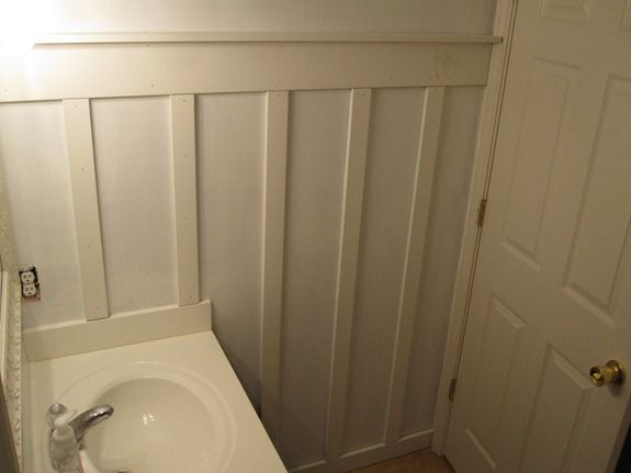 board and batten bathroom