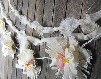 crepe flower garland 020