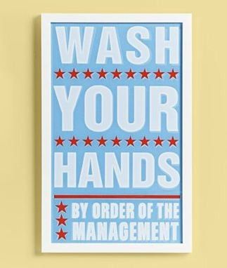 land of nod wash your hands wall art