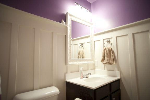 Purple Board Batten Bathroom Infarrantly Creative