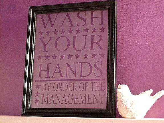 Wash Your Hands Wall Art