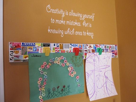 Cereal Box Crafts: Kids Art Display