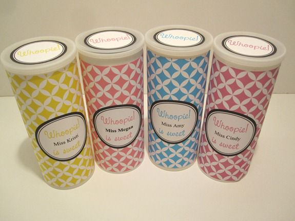 Upcycled containers with printable label
