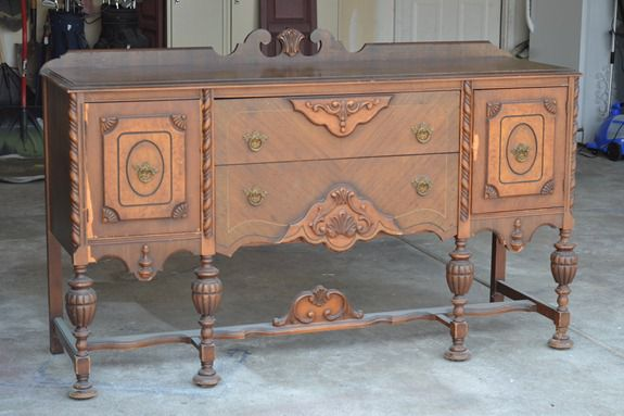 antique sideboard makeover part 1 infarrantly creative. Black Bedroom Furniture Sets. Home Design Ideas