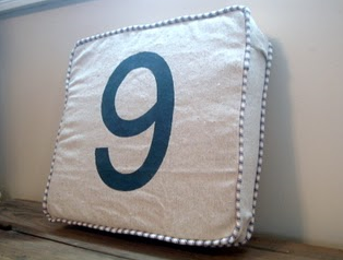 restoration hardware number pillow