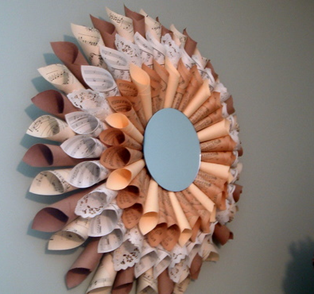 paper sunburst mirror