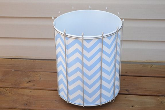 Chevron Trash Can
