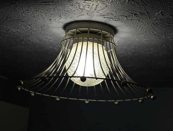 Industrial Wire Basket Light