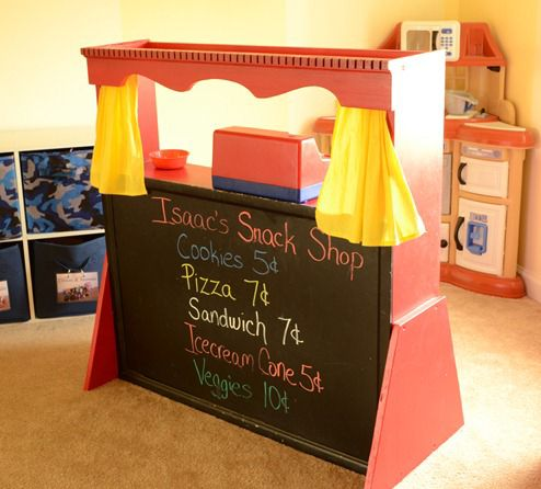 how to build a puppet theater