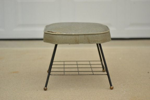 Stenciled Footstool (2)