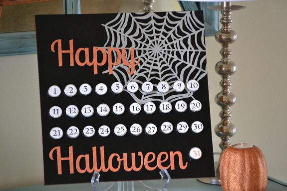 Countdown to Halloween {Hershey Kiss Board}