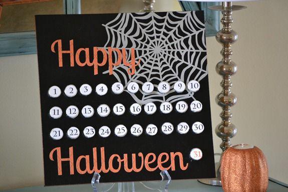 Countdown to Halloween {Hershey Kiss Board}