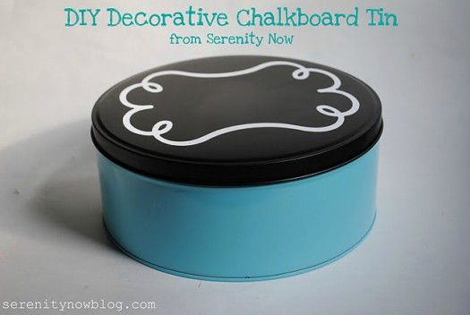 DIY Decorative Chalkboard Tin