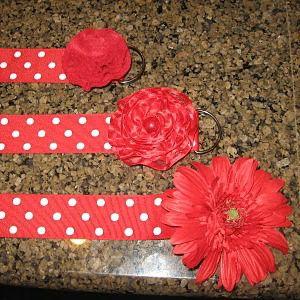 Ribbon Flower Belt–{Blue Cricket Design}