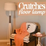 crutches floor lamp