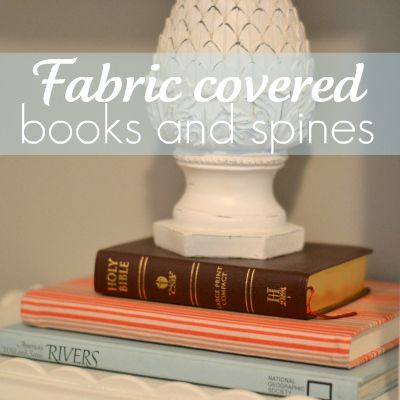 fabric covered books square