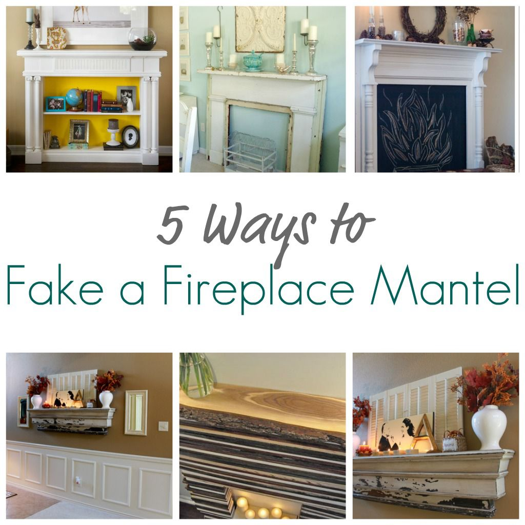 5 ways to fake a fireplace mantel infarrantly creative for Fireplace no mantle