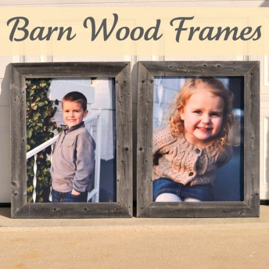 Barn Wood Frames {Roadkill Rescue}