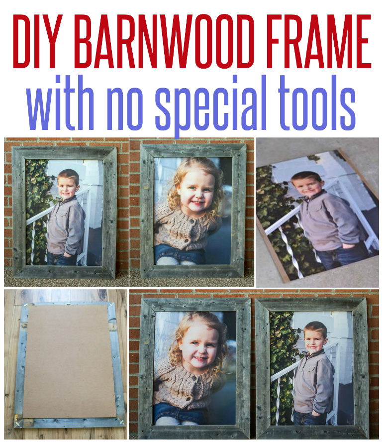 Barn Wood Frames {with no special tools!}