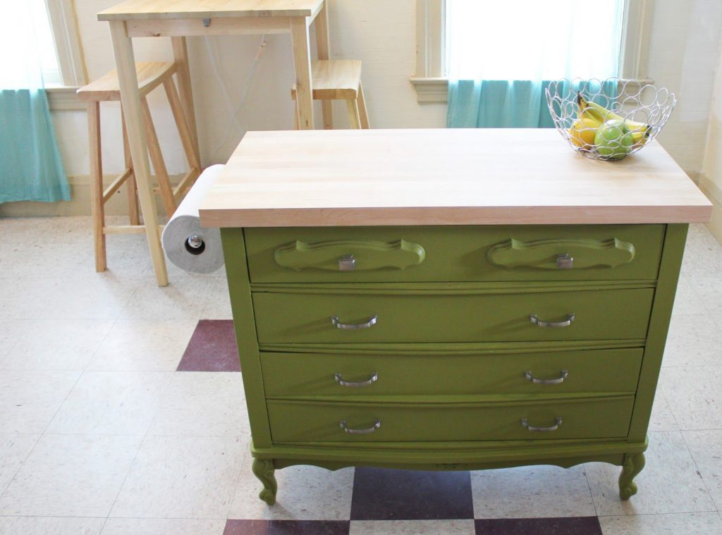 Repurposed Kitchen Island Using Old Furniture For Kitchen Island Best Kitchen Island 2017
