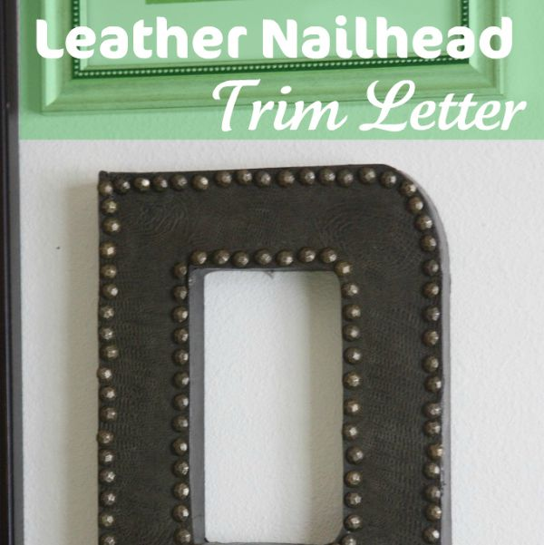 Leather Nailhead Trim Letter