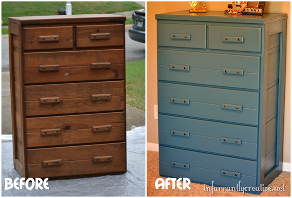 Blue Painted Furniture + $100 Lowes Gift Card