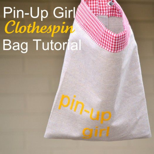 Clothespin Bag Tutorial