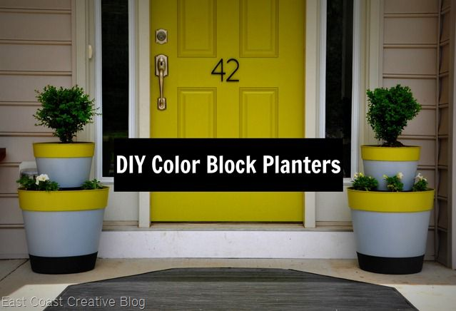 Painting Plastic Planters
