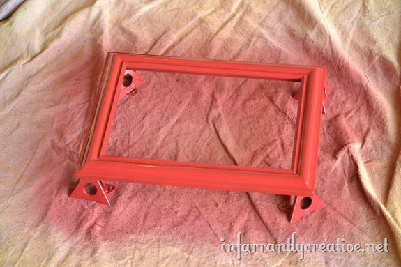 Red Spray Painted Frame