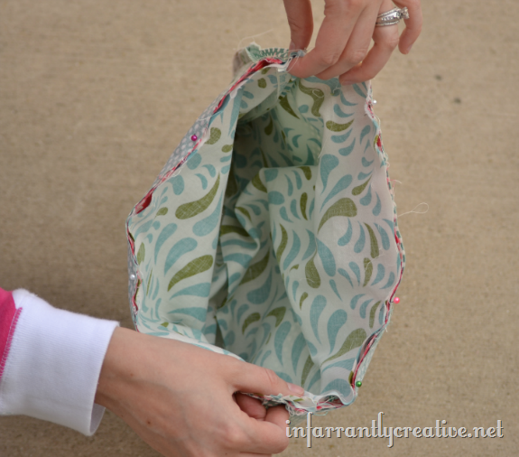 sewing drawstring bag