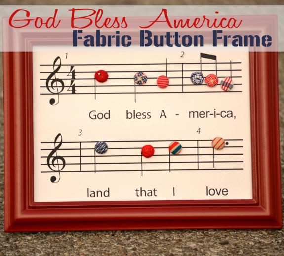 Patriotic Craft {God Bless America Printable}