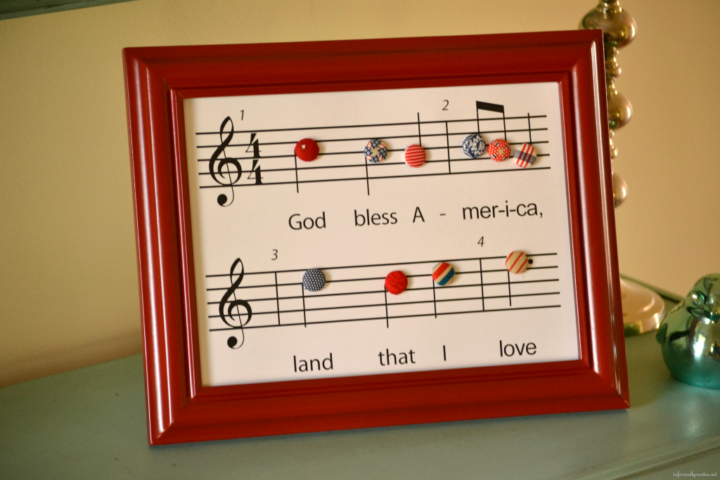 God Bless America printable with frame