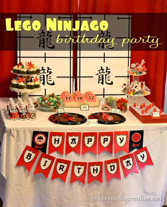Lego Ninjago Birthday Party Infarrantly Creative