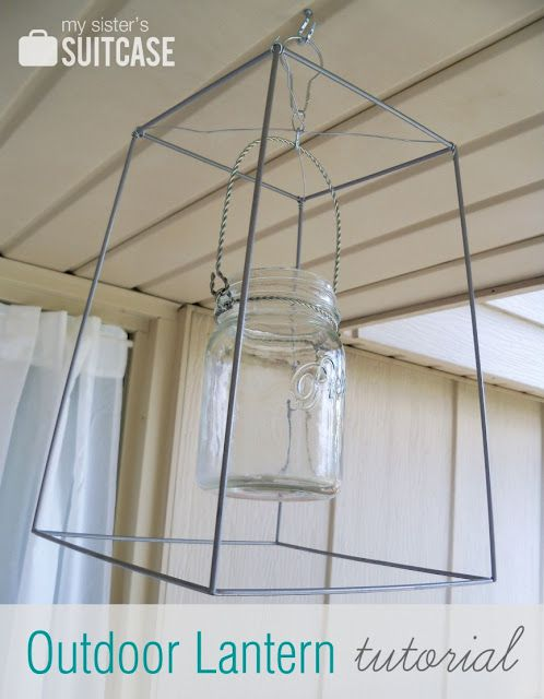 outdoor lantern tutorial