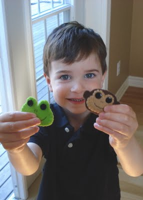 Monkey and Frog Hair Clips {East Coast Mommy}