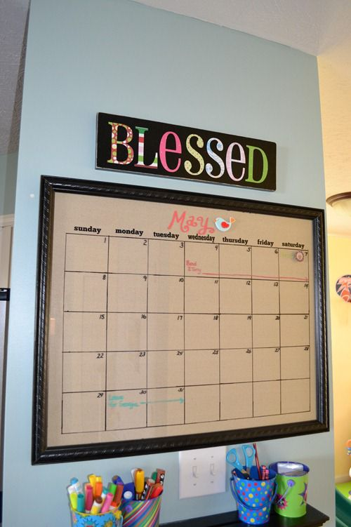 Calendar Whiteboard Ideas : Magnetic dry erase calendar