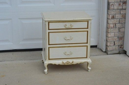 French Provincial Nightstand Refab