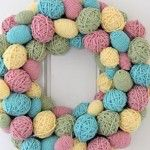 Yarn Egg Wreath