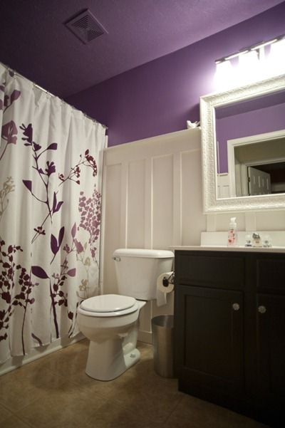 Purple Board & Batten Bathroom