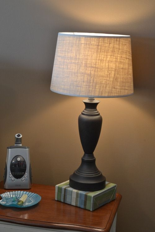 Simple Burlap Lampshade