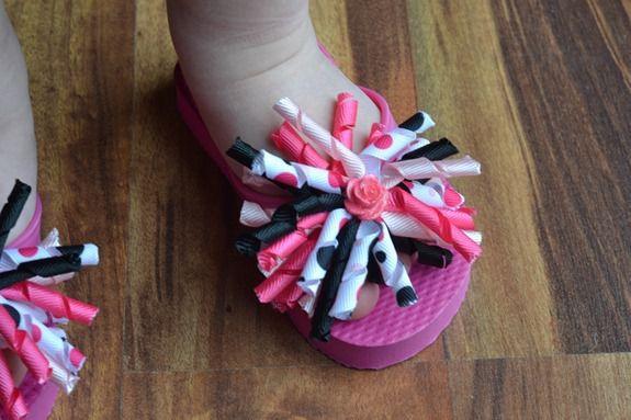 Decorated Flip Flops