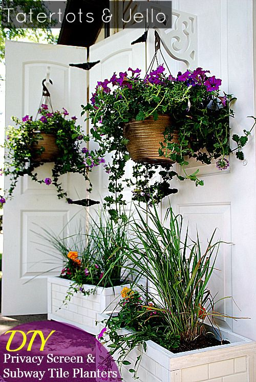diy-privacy-screen-and-subway-tile-planters
