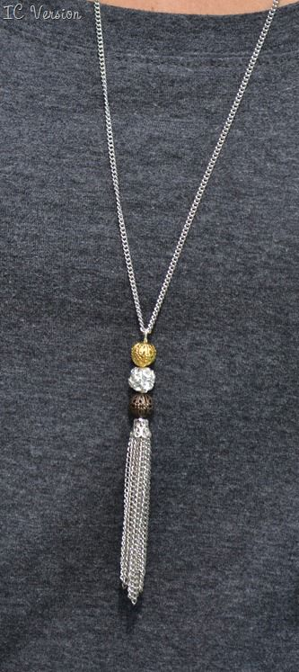 Mixed Metal Filigree Ball Necklace Infarrantly Creative